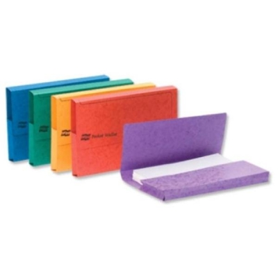 Europa Document Wallet Half Flap 265gsm Pressboard Capacity 32mm A3 Assorted Ref 4780 [Pack 25]