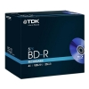 TDK BD-R Blu Ray Recordable Disk Jewel Case 4x Speed 25Gb Ref t78008 [Pack 5]