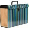 Concord Stripe Expanding Organiser Homefile 19 Pocket Foolscap Ref 112241