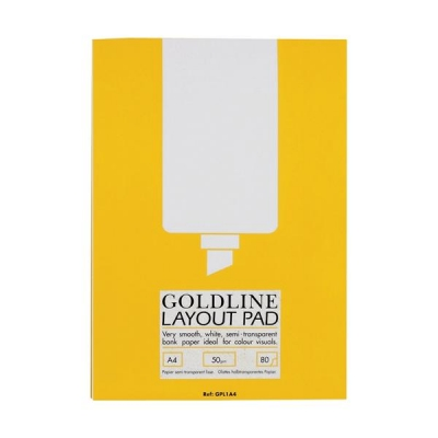 Goldline Layout Pad Bank Paper Acid-free 50gsm 80 Sheets A4 Ref GPL1A4Z [Pack 5]