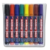 Edding 360/8S Whiteboard Marker Bullet Tip 1.5-3mm Line Assorted Ref 4-360-8 [Pack 8]