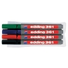 Edding 361/4S Whiteboard Marker Bullet Tip 1mm Line Assorted Ref 4-361-4 [Pack 4]
