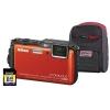 Nikon Coolpix AW120 Digital Camera 5xOptical Zoom Waterproof WiFi 16MP Orange Ref NIK2040
