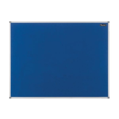Quartet Felt Notice Board Aluminium Trim 900x600mm Blue Ref 1904070