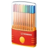 Stabilo Point 88 Fineliner Pen Water-based 0.8mm Tip 0.4mm Line Assorted Ref 8820/03 [Pack 20]
