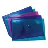 Snopake Polyfile Electra Wallet File Polypropylene Foolscap Assorted Ref 10088 [Pack 5]