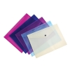Snopake Polyfile Lite Wallet File Polypropylene Durable A4 Assorted Ref 15411 [Pack 5]