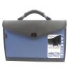 Snopake Expanding Organiser File Polypropylene 13 Part Foolscap Blue and Black Ref 13521