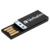 Verbatim Clip-it Flash Drive USB 2.0 8GB Black Ref 43932