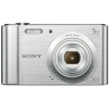 Sony DSC-W800 Digital Camera Kit 2.7in LCD 5x Zoom 20.1MP with 8GB SD Card and Case Silver Ref SON2463