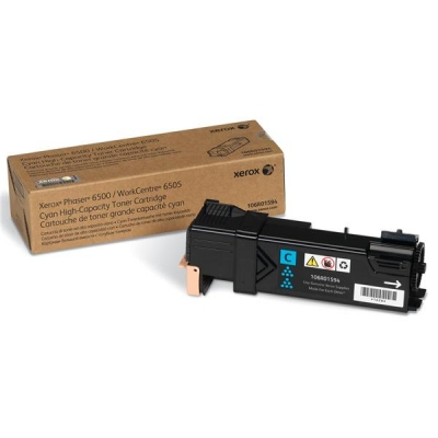 Xerox Phaser 6500 Laser Toner Cartridge High Capacity Page Life 2500pp Cyan Ref 106R01594