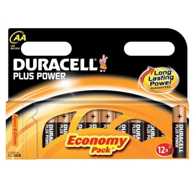 Duracell Plus Power Battery Alkaline AA Ref AADURB12C [Pack 12]