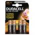 Duracell Plus Power Battery Alkaline AA Ref AADURC [Pack 4]