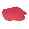 Napkins 2 Ply 400mm Square Red [Pack 125]