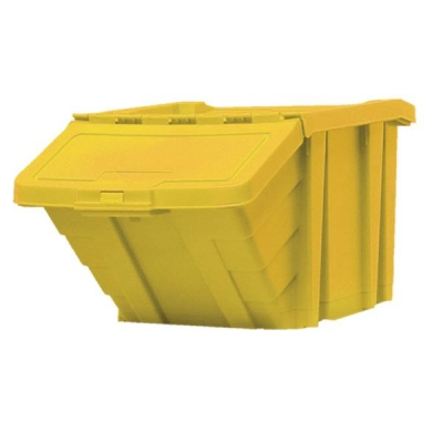 Recycle Storage Bin and Lid Yellow