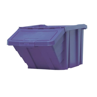 Recycle Storage Bin and Lid Blue