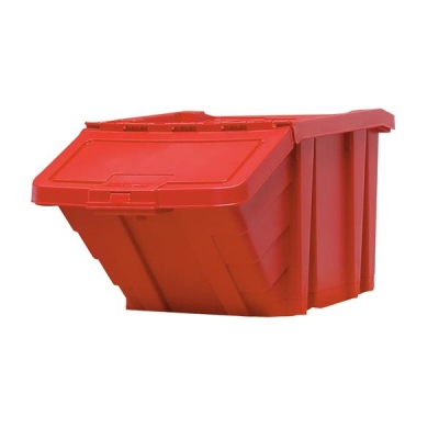 Recycle Storage Bin and Lid Red