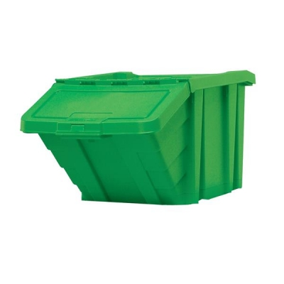 Recycle Storage Bin and Lid Green