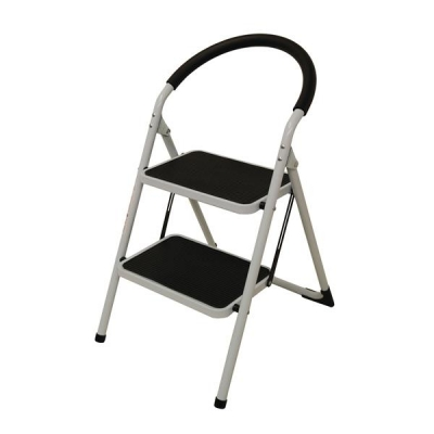 Step Ladder 2 Tread White Frame