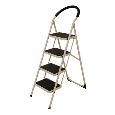 Step Ladder 4 Tread White Frame