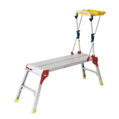 Work Platform with Hand Rail and Tool Tray Aluminium