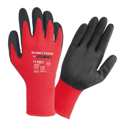Juba Gloves Nitrile Foam Coated Size 8 Red/Black [Pair] Ref 303188080