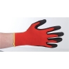 Keepsafe Safety Gloves PU Coated Size 8 Red/Black [Pair] Ref 303618080