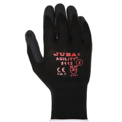 Juba Gloves Agility Nitrile Foam Coated H/G Size 9 Black/Red [Pair] Ref 303082090