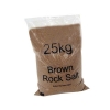 Rock Salt Bag De-icing 25kg Brown [Packed 10]