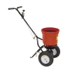Salt Spreader Coverage 3m Capacity 22kg Pneumatic Tyres Rain Cover Hopper Screen Red and Black