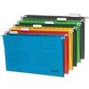 Bantex Flex Suspension File Kraft V-Base 15mm Square 30mm A4 Blue Ref 100331432