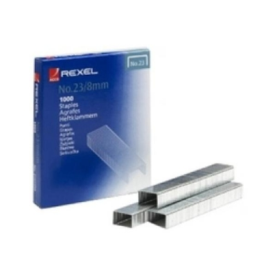 Rexel No.23 23/6 Staples Steel Ref 2101054 [Pack 1000]