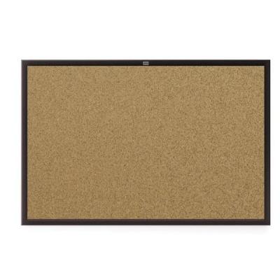 Nobo Euro Board Cork Black Frame 1200x900mm Ref 1903946