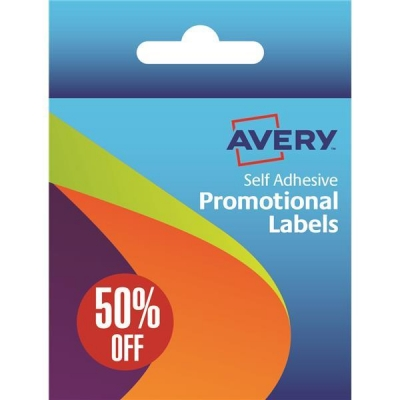 Avery Label Dispenser Pre-printed with 50% Off Labels Ref 50-126 [500 Labels]