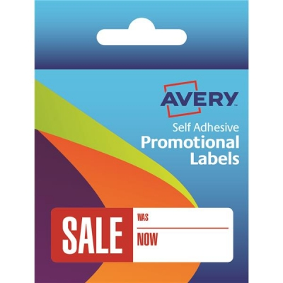 Avery Label Dispenser Pre-printed Labels with SALE Was Now Labels Ref 50-130 [500 Labels]