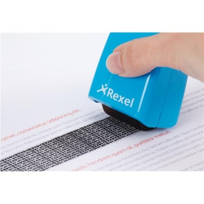 Rexel ID Guard Roller Blue with Black Ink Ref 2113007