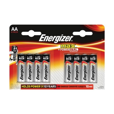 Energizer Max AA/E91 Batteries Ref E300112400 [Pack 8]
