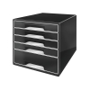 Leitz WOW 5 Drawer Desk Cube Black Ref 52530095