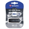 Verbatim V3 USB 3.0 Drive Black/Grey 32GB Ref 49173-1