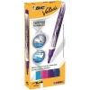 Bic Velleda Drywipe Markers 4.2mm Bullet Tip 2.2mm Line Blue/Pink/Purple/Sky Blue Ref 927157 [Wallet 4]