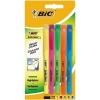 Bic Briteliner Grip Highlighter Pen Chisel Tip 1.6-3.4mm Line Yellow Ref 824758 [Wallet 5]