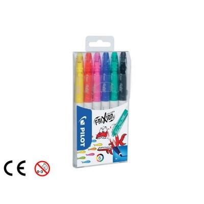 Pilot Erasable Felt Pen Assorted Ref 220300600 [Pack 6]