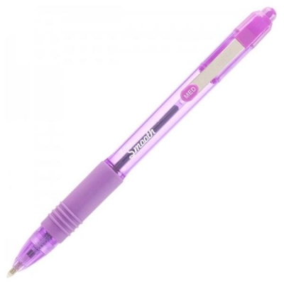 Zebra Z-Grip Smooth Ballpoint Pen Medium 1.0mm Tip 0.7mm Line Violet Ref 22568 [Pack 12]