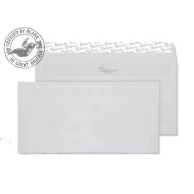 Blake Premium Envelope Wallet Peel & Seal 120gsm Smooth Diamond White DL [Pack 500] Ref 36882