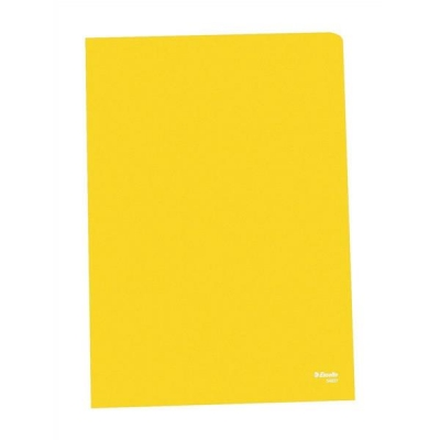 Esselte Copy-safe Folder Plastic Cut Flush A4 Yellow Ref 54842 [Pack 100]