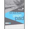 Silvine Student Graph Pad 90gsm 0.1 0.5 1 inch Grid 50 Sheets A4 Ref A4GPIML [Pack 10]