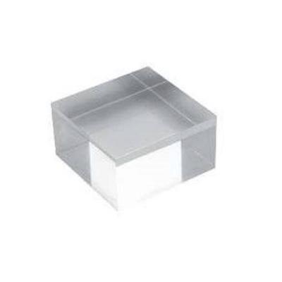 Deflecto Display Block Solid Acrylic 100x40x100mm Ref AB340