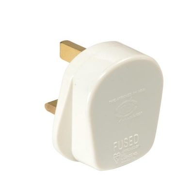 Plug 13 Amp Safety Shutter White [Pack 20]