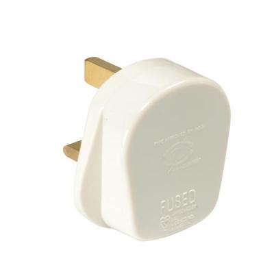 Plug 13 Amp Safety Shutter White [Pack 20]