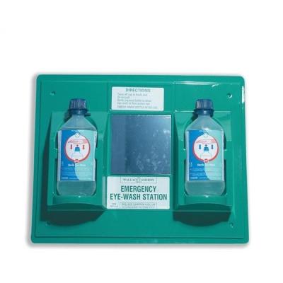 Wallace Cameron First-Aid Emergency Eyewash Station 2 x 500ml Bottles W206xD49xH205mm Ref 2402028